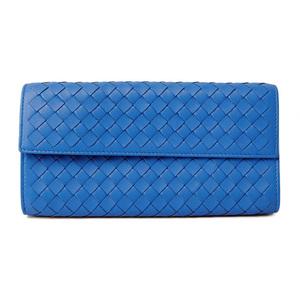 Bottega Veneta Wallet BOTTEGA VENETA Continental Nappa Cobalt Blue 150509