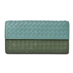 Bottega Veneta Wallet BOTTEGA VENETA Continental Nappa Green Blue 150509