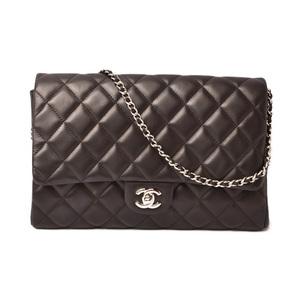 Chanel Shoulder bag Clutch CHANEL Matrasse Chain quilted stitch black silver