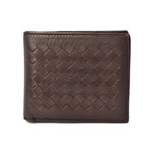 Bottega Veneta Wallet BOTTEGA VENETA Folded wallet Inlet chart Nappa 113993 Dark Brown