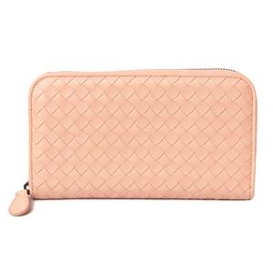 Bottega Veneta Wallet BOTTEGA VENETA Long wallet Round zipper type 114076 Pearl Pink