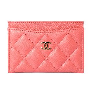 Chanel Card Case Business Holder CHANEL Matrasse Caviar Skin A31510 Pink Gold Hardware