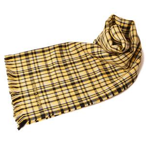 Bottega Veneta Scarf Winter Stole BOTTEGA VENETA 100% Wool Fringe 5209653 SCARF Yellow Black