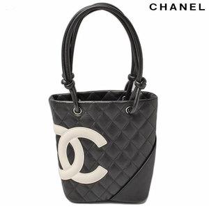 Chanel CHANEL Shoulder bag Small tote Cambon A25166 black white