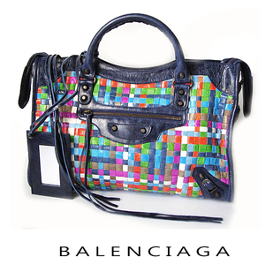 Balenciaga bag BALENCIAGA editor's The city intrecht multi × navy 115748