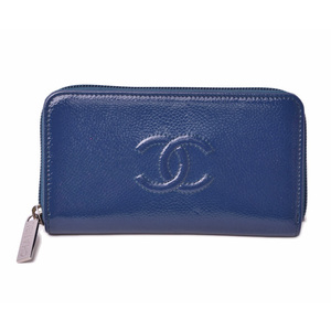 Chanel Pouch Card Case Smartphone CHANEL Patent Leather Navy Silver Hardware