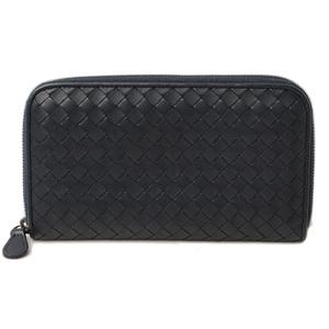 Bottega Veneta Wallet BOTTEGA VENETA Long wallet 114076 Navy Intrechert Zip Around Outlet