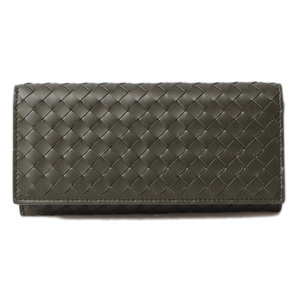 Bottega Veneta Long wallet BOTTEGA VENETA Continental Intoreto VN khaki 120697V46513219