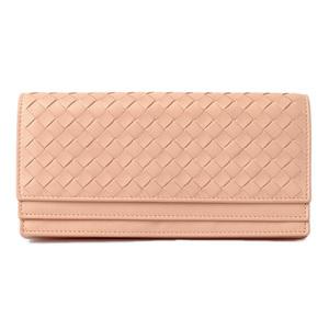 Bottega Veneta Wallet BOTTEGA VENETA Long wallet double flap Nappa pearl pink system 143305