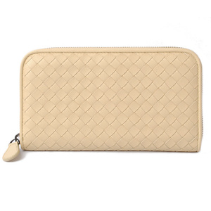 Bottega Veneta Purses BOTTEGA VENETA Long wallet Round fastener type 114076 Light yellow