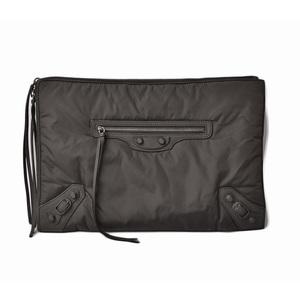 Balenciaga Clutch Bag Second BALENCIAGA Classic Pouch 362967 Nylon Black