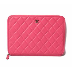 Chanel Travel Case Wallet Multi-wallet Clutch Pouch CHANEL Matrasse Ramkin Fuchsia Pink A69338