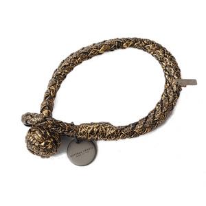 Bottega Veneta Bracelet Bangle BOTTEGA VENETA Intrecciato Calf Oro Black 113546