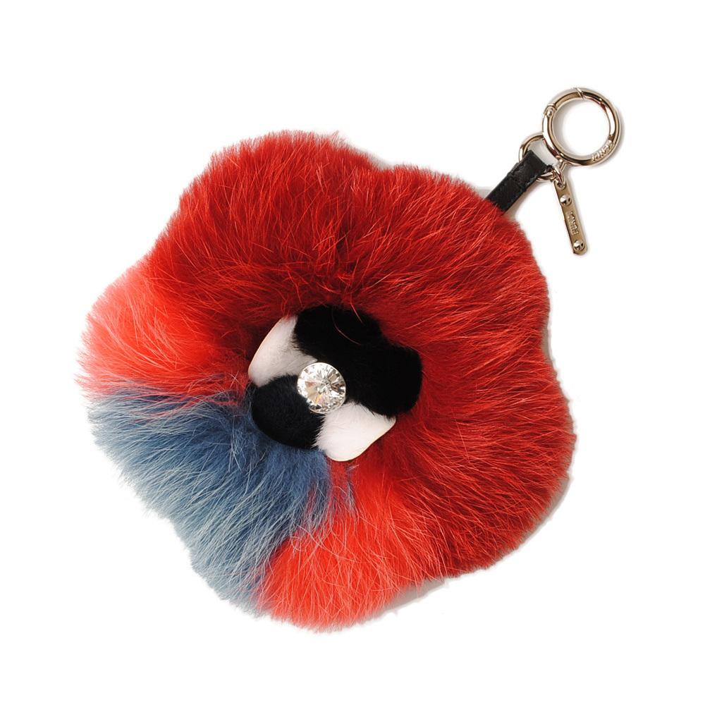 Fendi Keychain Bag Charm FENDI Fox Red Orange Blue