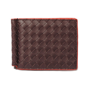 Bottega Veneta Wallet Money Clip BOTTEGA VENETA Folded Calf 123180 DARK BAROLO Dark Purple
