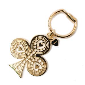 Chloé Chloe key holder ring clover motif light gold 3K0390-CB7