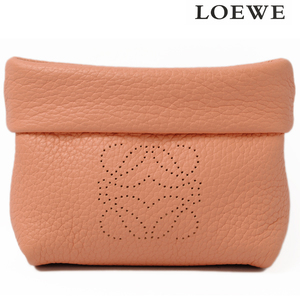 Loewe LOEWE Coin Case Purses Mini Pouch Calf PEACH Peach 186.79.I53