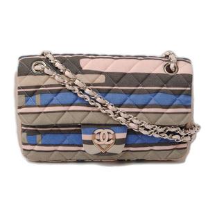 Chanel Handbag Shoulder Bag CHANEL Matras Jersey Material Heart Coco Pink Multi