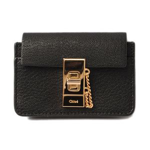 Chloé Chloe coin case card DREW Drew Black 3P0807-944