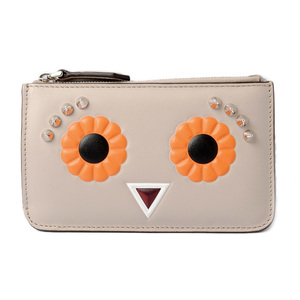 Fendi coin case key pouch FENDI wallet with ring 8AP151 2 JOURS powder orange multi