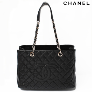 Chanel chain shoulder bag CHANEL A50995 quilted caviar skin black bracket silver