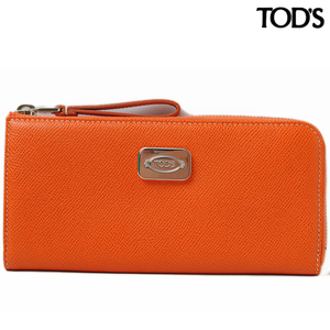 Tod's wallet TOD'S L-shaped zipper D-styling embossed leather dark orange XAWCBWAC400DOUG803