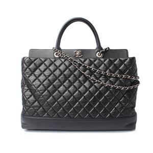 Chanel Chain Shoulder Bag Tote Channel CHANEL Matrasse Quilted Vintage Leather Black