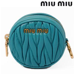 Miu miumiu coin case purse 5M1212 Materasse leather TURCHESE turquoise
