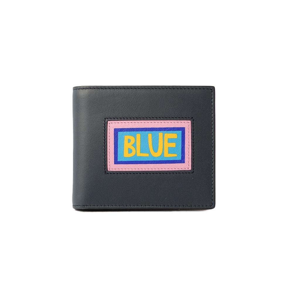 Fendi wallet FENDI folded 7M0169 VOCABULARY navy black