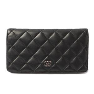 Chanel Purse CHANEL Timeless Classic A31509 Matrasse Lambskin Black Bordeaux