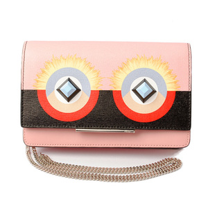 FENDI wallet with chain mini bag leather 8M0346 SQT F02L0 multi-color pink