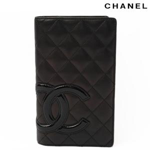 Chanel CHANEL long wallet A26717 cambon line metallic black