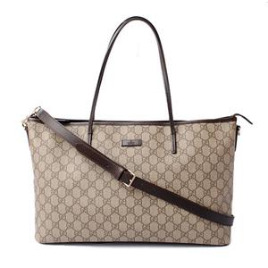 25d1f3e55 Gucci tote bag shoulder GUCCI GG Supreme canvas medium brown beige 353437  KGDHG 9643