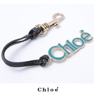 Chloé Chloe key ring Key with CHLOE hook Logo aqua blue AQUA FRESH 8APC308-8S812 P7661
