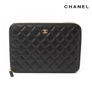 CHANEL Travel Case Long Wallet Multi wallet A69338 Lambskin Black Bordeaux