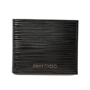 Jimmy Cho wallet JIMMY CHOO fold men's MARK stripe patent black