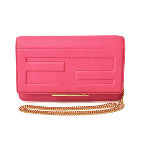 Fendi Chain wallet Purse Shoulder bag FENDI 8M0346 Leather Fuchsia Pink