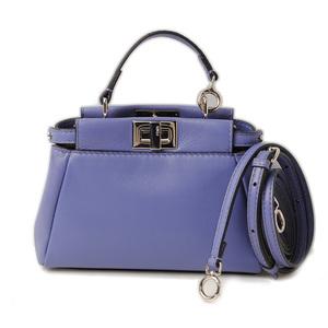 Fendi micro peacock shoulder bag accessory pouch FENDI MICRO PEEKABOO PURPLE purple