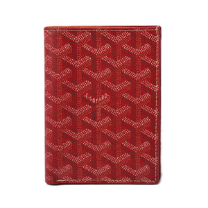 Goyal wallet GOYARD card case herringbone red