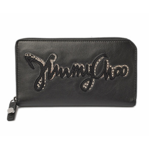 Jimmy Cho wallet JIMMY CHOO CARNABY biker leather studs Big logo