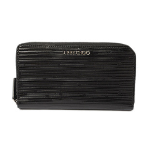Jimmy Cho wallet JIMMY CHOO long CARNABY stripe patent black