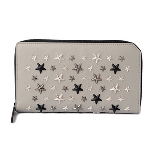 Jimmy Cho wallet JIMMY CHOO long CARNABY Star studs gray Gunmetal metallic mix