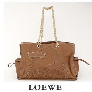 Loewe bag LOEWE chain tote soft leather brown