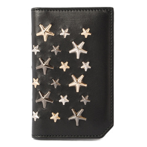 Jimmy Choo Card Case Business Holder JIMMY CHOO COOPERS Star Studs Black Metal Multi