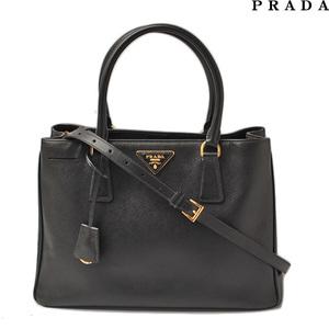 Prada handbag shoulder bag 2way PRADA BN1874 Safiano NERO black