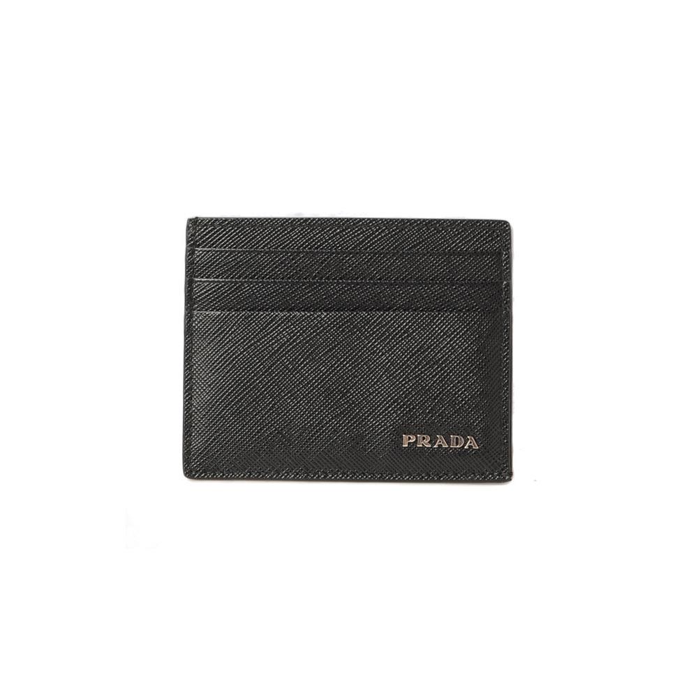 timeless design 566df 18882 Prada card case business holder PRADA 2MC223 SAFFIANO SASSIA embossed  leather NERO MIMETICO black | eLady.com