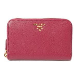 Prada Wallet Pouch Smartphone Case PRADA Folded Saffiano Metal Fuchsia Pink Outlet