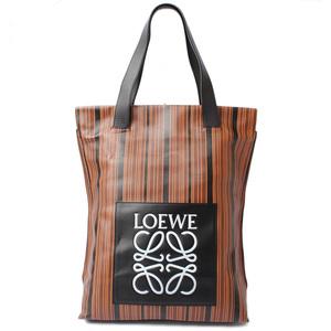 Loewe Tote Shopper 261407 LOEWE Striped Brown Black Bag Mens