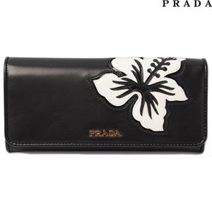 Prada PRADA wallet 1M1132 patchwork NAPPA POP lamb leather NERO black outlet