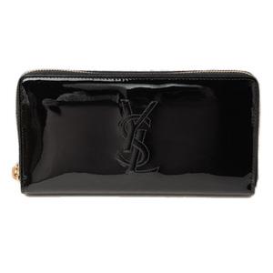 Saint Laurent Paris Purse SAINT LAURENT PARIS Long wallet patent leather black 314902 Outlet